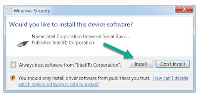 Install Intel Driver PC