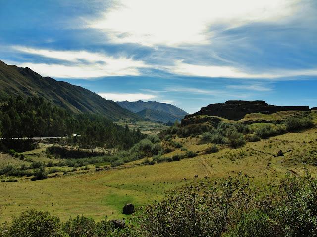 Puca Pucara, ruínas do antigo Império Inca, em Cusco no Peru