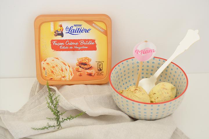 La Laitière glaces crème brûlée nougatine