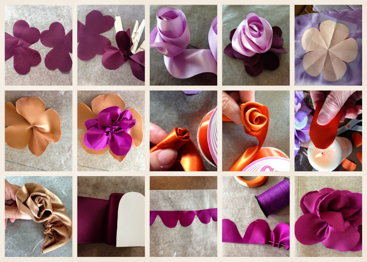 diy no sew ribbon flowers - photo #13