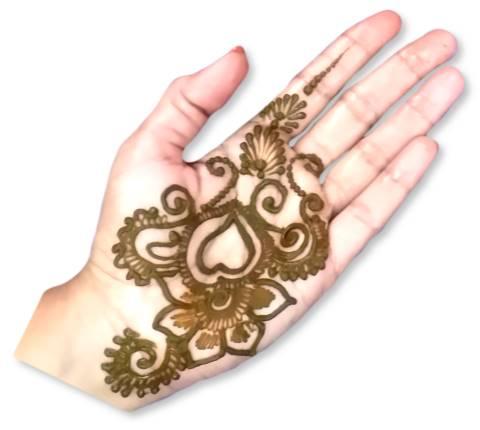 Heart Mehndi Designs