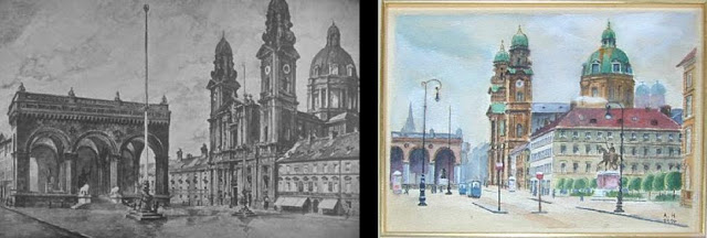 Hitler feldherrnhalle paintings
