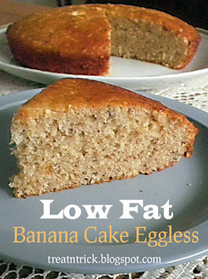 Low Fat Banana Cake Eggless Recipe  @ treatntrick.blogspot.com