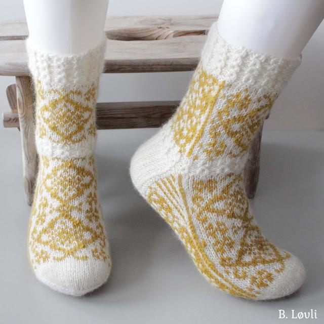 Strikkeoppskrift på sokker