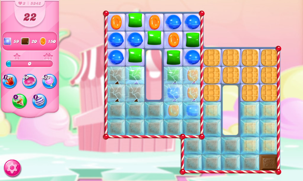 Candy Crush Saga level 5342