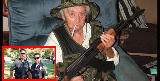 Idosa de 79 anos com fuzil AK-47 salva policias atacados por gangue de rua