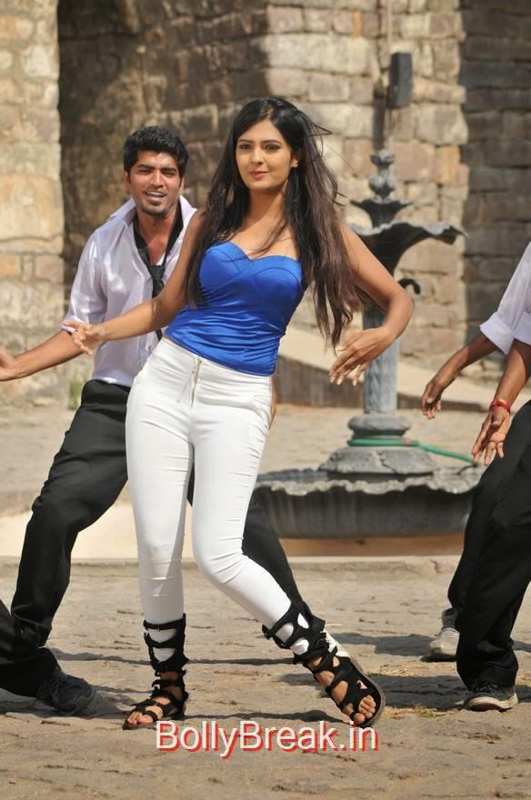 Neha Deshpande Pics, Neha Deshpande Hot Pics in blue Top, Tight Jeans from The Bells Movie