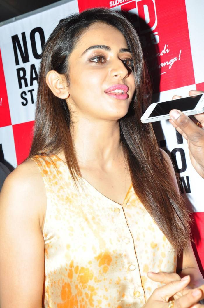 Actress Rakul Preet Singh Photos In Yellow Dress