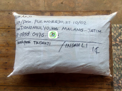 Benih pesanan SUKARJI Malang, Jatim..   (Setelah Packing)