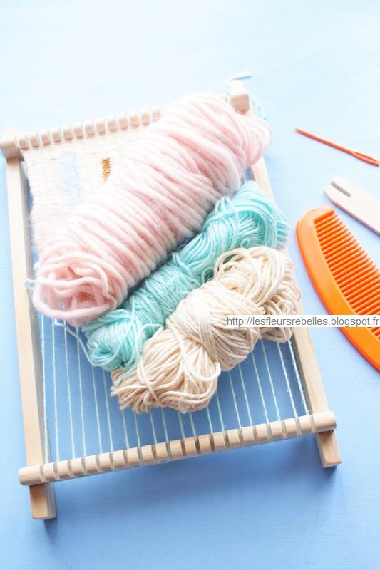 Détails de mon tissage, les différentes laines