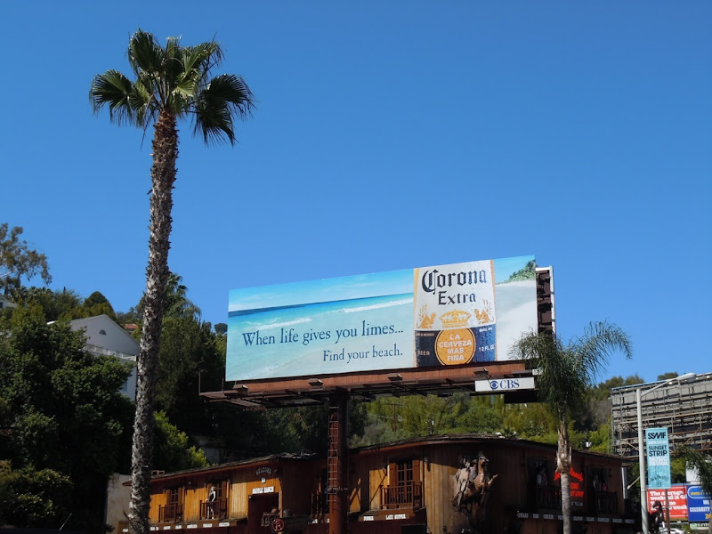 Corona Extra life gives limes billboard
