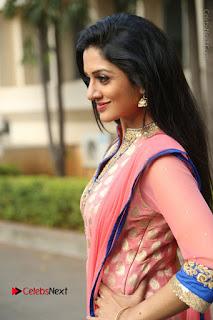 Actress Vimala Raman Stills in Beautiful Pink Salwar Kameez at (ONV) Om Namo Venkatesaya Press Meet  0092.JPG