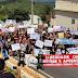 Estudantes protestam em Cuité contra corte de verbas da educação.
