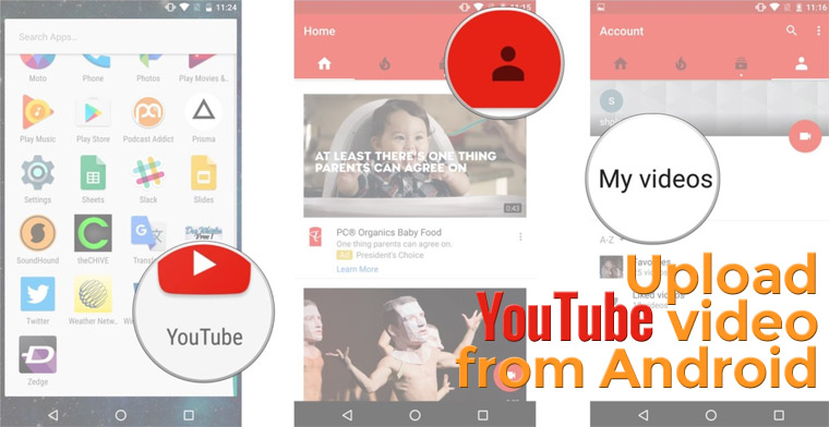 upload Youtube video from android