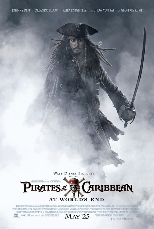 Pirates of the Caribbean At Worlds End movie poster