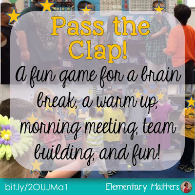 Pass the Clap - A Fun Game for all ages! This is a great game for team building. with many benefits in the classroom, and plenty of giggles, too!