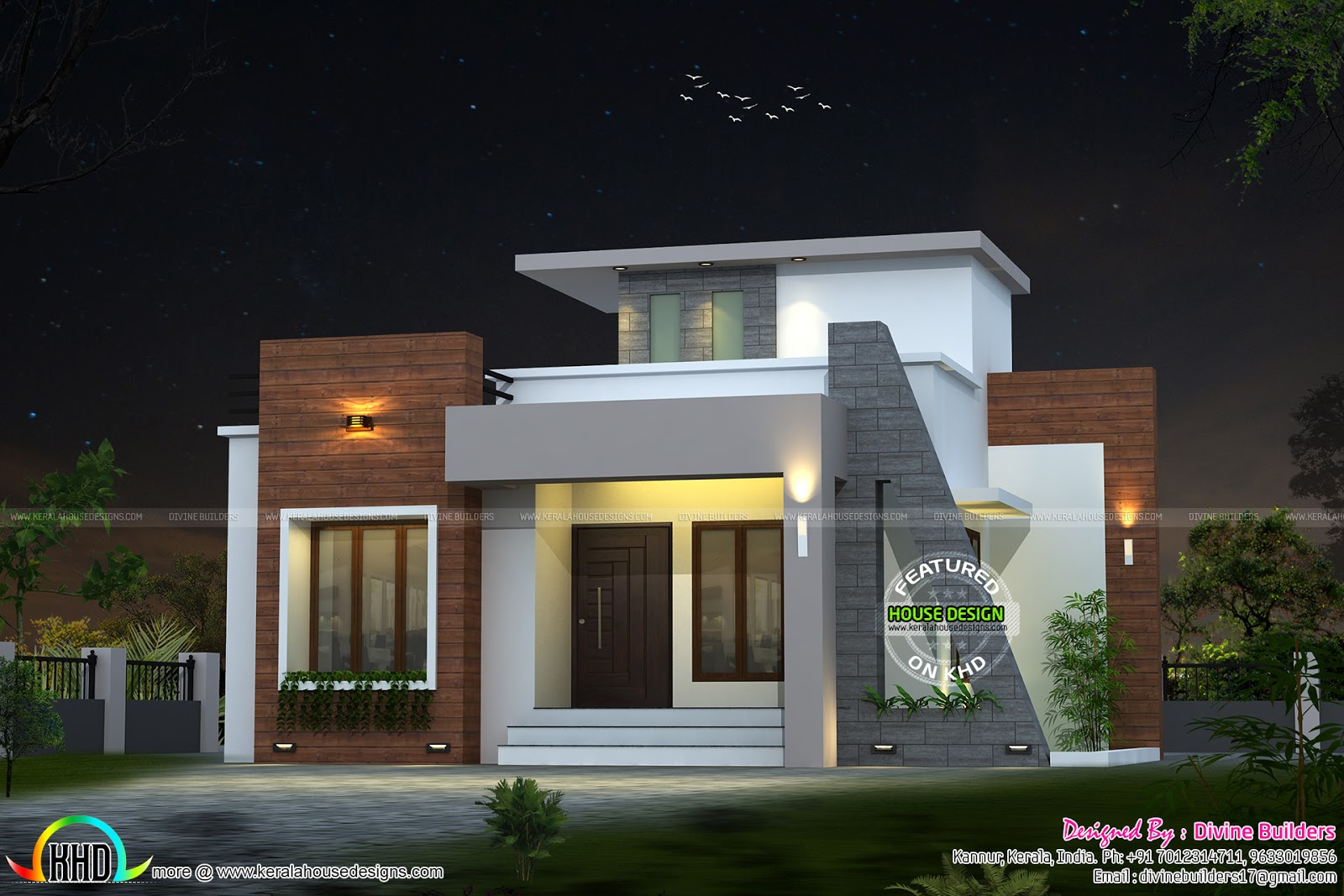 22 lakhs cost estimated house plan kerala home design for Home construction design