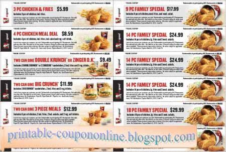 image relating to Printable Kfc Coupons identify Printable Discount coupons 2019: Kfc Discount codes