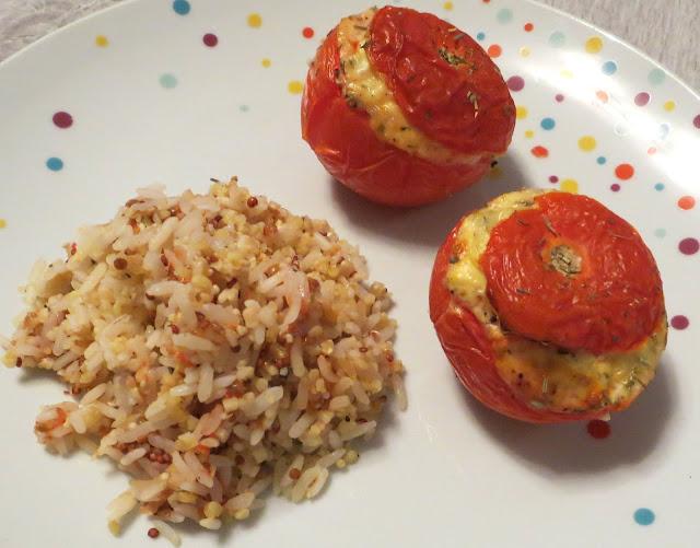 Cocotte forever: Tomates farcies chévre/bacon : 69 calories
