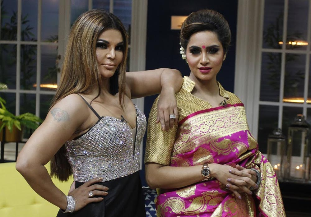 Rakhi Sawant and Arshi Khan on Zee TV's Chat Show JuzzBaatt
