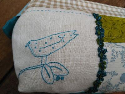 neceser, necessaire, pouch, fin de semana, weekend, bordado, broderie, embroidery