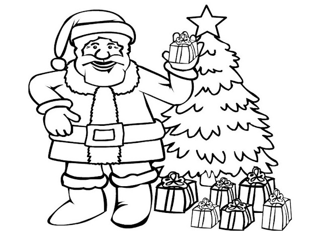 christmas gifts coloring pages