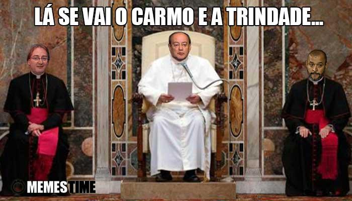Memes Time Alexandre Pinto da Costa, Nuno Espirito Santo e Pinto da Costa – Lá se vai o Carmo e a Trindade