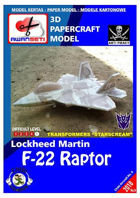 Chibi Lockheed F-22 Raptor (STARSCREAM)