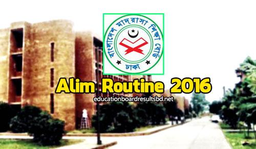 Alim Routine 2016 Bangladesh Madrasah education board