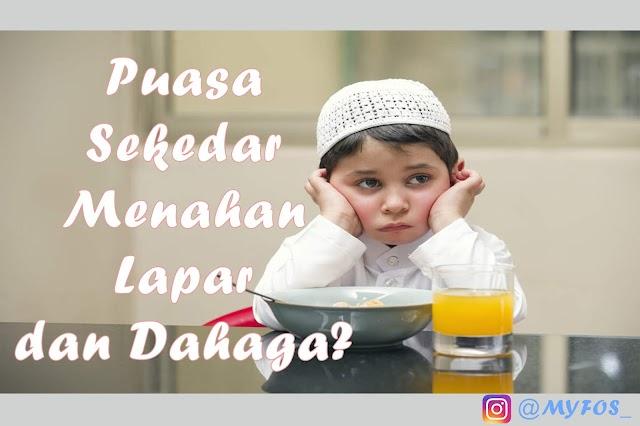 Paradoks Orang Berpuasa di Bulan Ramadhan