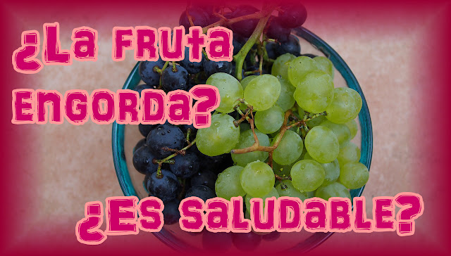 La fruta engorda, comer sano.