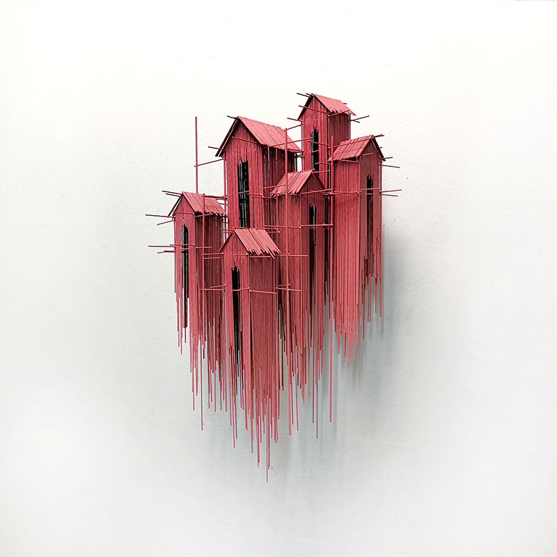 Steel wire sculptures by david moreno