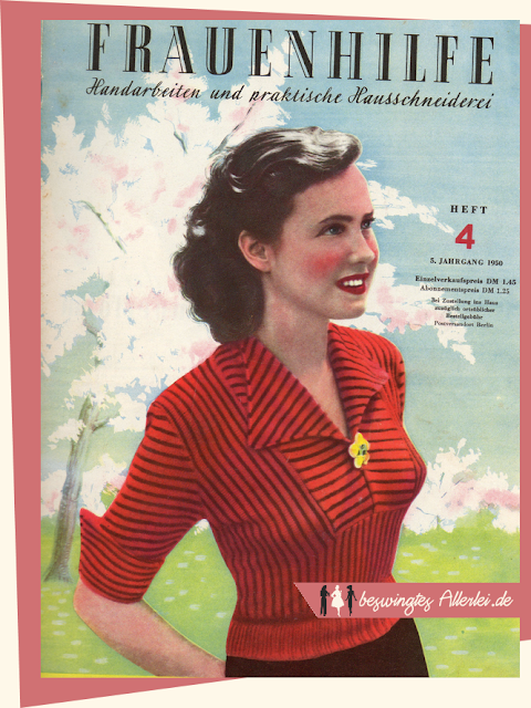 The Vintage Pattern Files: Free 1950s Knitting Pattern - Gestreifter Jumper