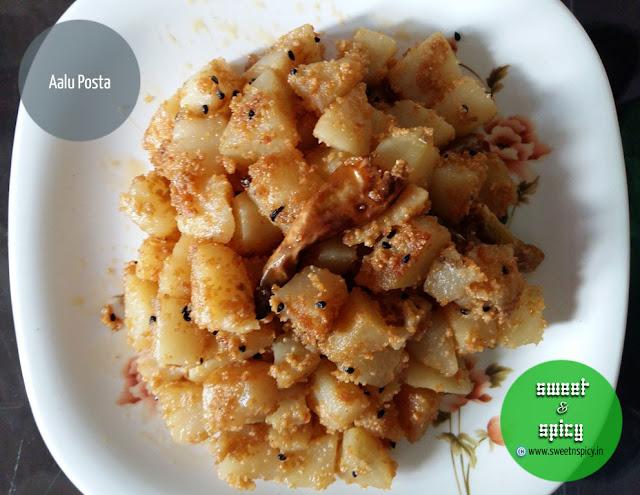 Aloo Posta (Potatoes with paste of Poppy Seeds)