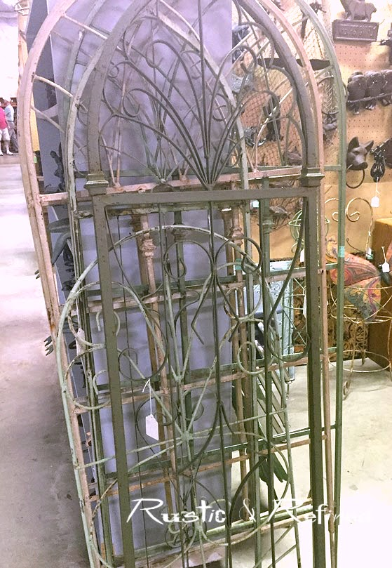 Wrought iron salvage pieces