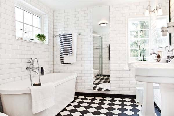bathroom ideas with black and white tile. black and white tile for,