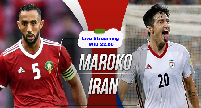 live streaming Morocco vs Iran 15 juni 2018