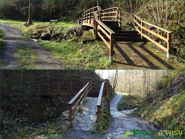 Senda del Chorrón y Foz del Río Valle: Puentes sobre el Rio Pequeño