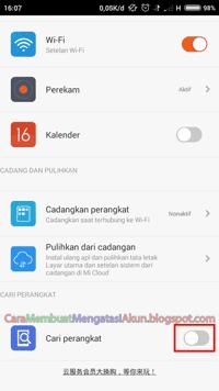 Fitur Cari Perangkat Xiaomi Android