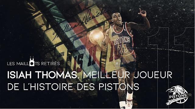 Maillot retiré d'Isiah Thomas pour les Detroit Pistons | PistonsFR, actualité des Detroit Pistons en france