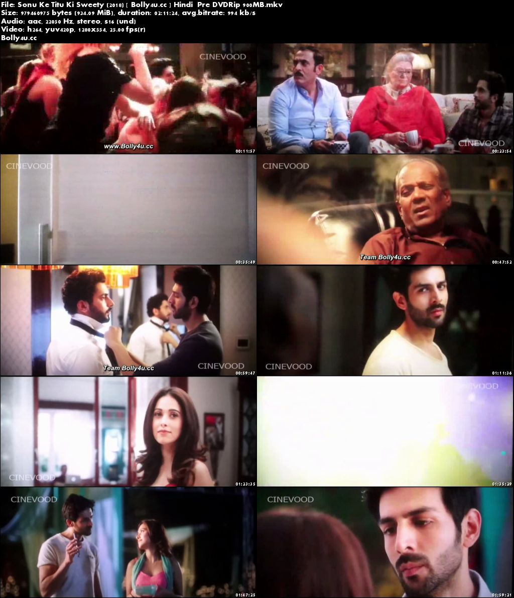 Sonu Ke Titu Ki Sweety 2018 pDVDRip 350MB Full Hindi Movie Download 480p