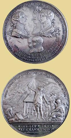 Medalla 1784, Carlos III