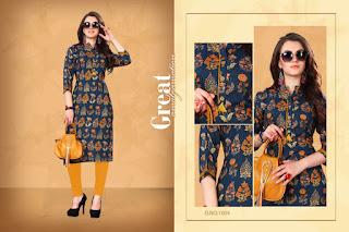 Vasnam Glamour rayon kurti catalog