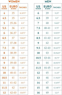 crochet slipper size chart adult