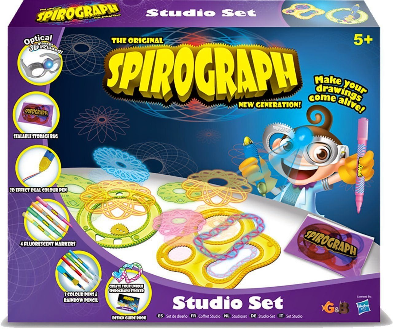Win Spirograph Optical 3D Studio Set