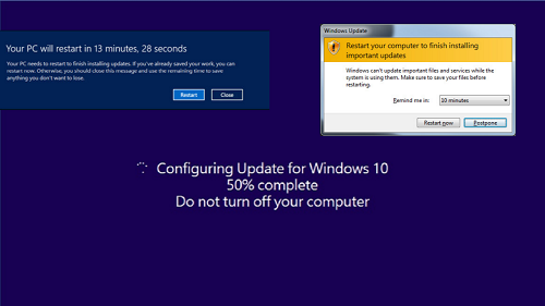 إيقاف إعادة التشغيل التلقائي أثناء تثبيت تحديثات الويندوز