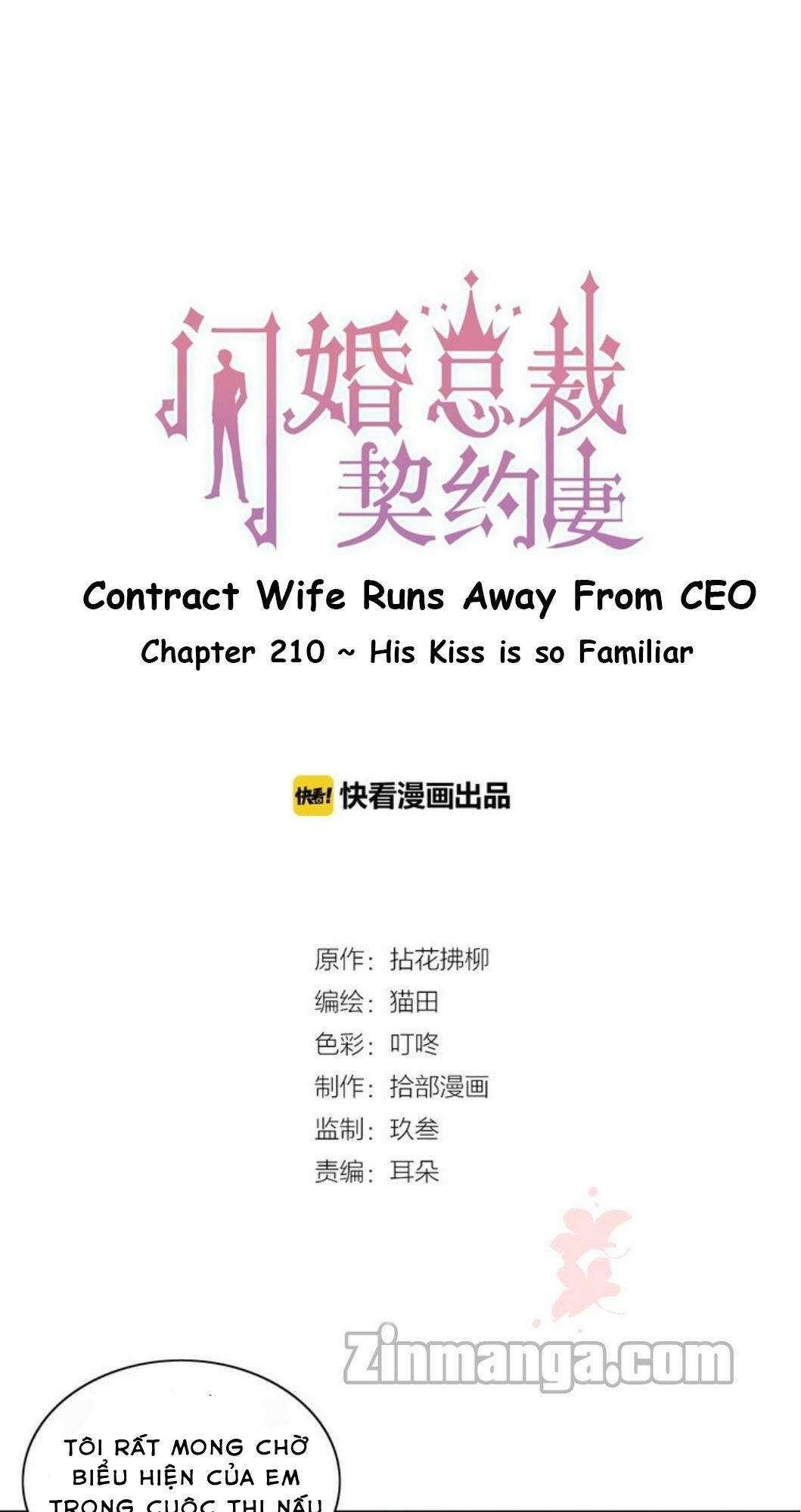 Cô Vợ Hợp Đồng Bỏ Trốn Của Tổng Giám Đốc Chapter 210 - Trang 1