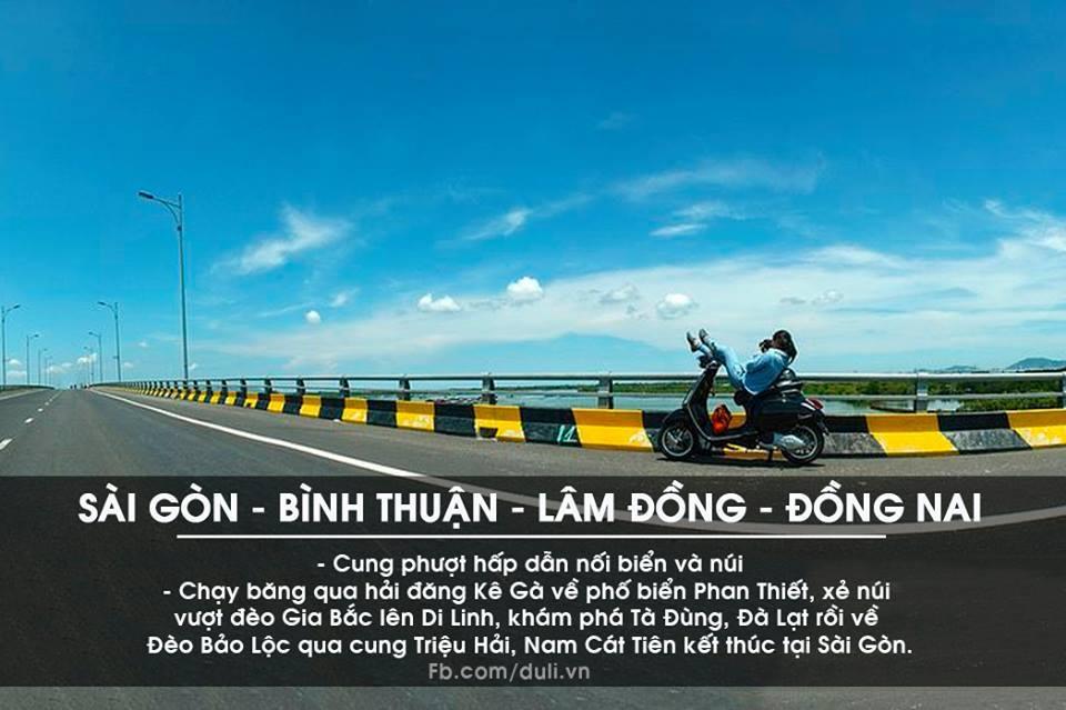 Sài Gòn - Bình Thuận - Lâm Đồng - Đồng Nai