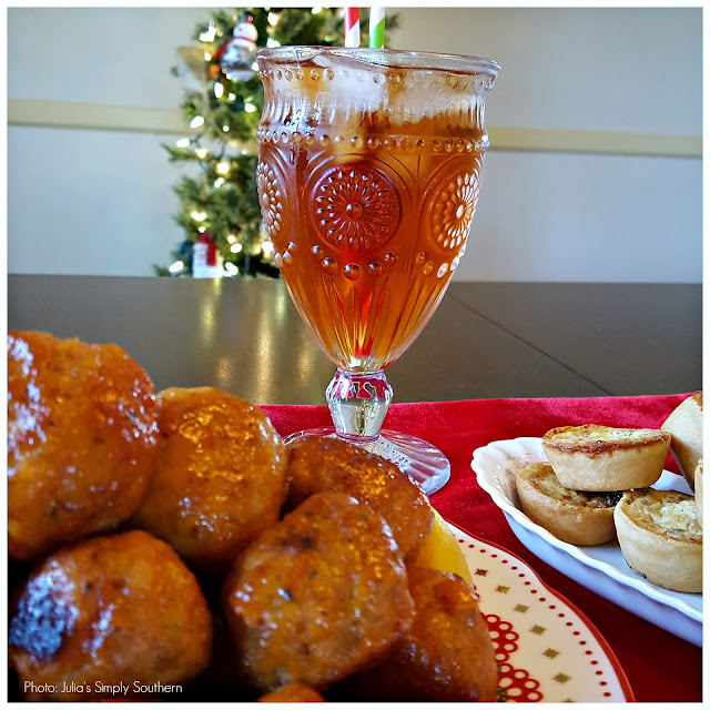 Julia's Simply Southern: Southern Breeze Cold Brew & Peach Turkey Meatball Appetizers