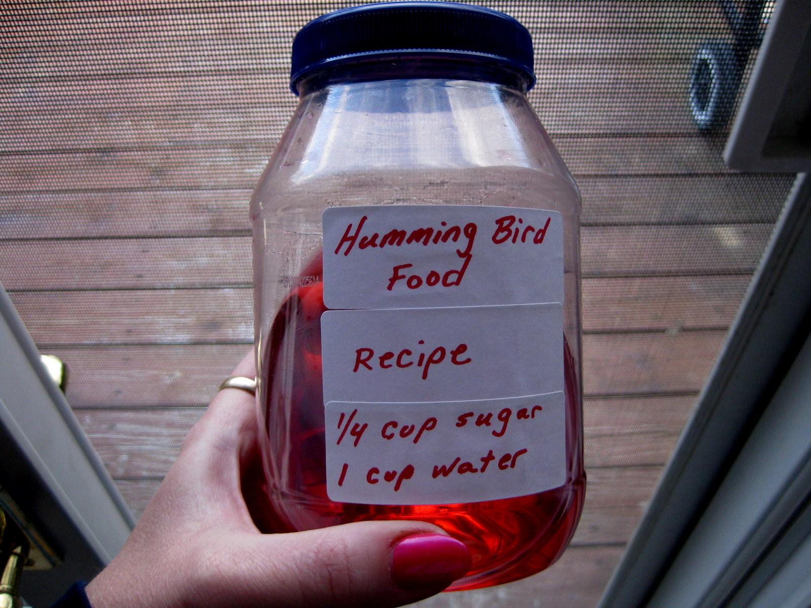 How To Make Sugar Water Hummingbird Food
